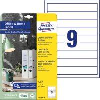 Avery Zweckform 190 x 30 mm méretű, fehér színű nyomtatható iratrendező betétlap