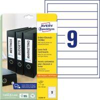 Avery Zweckform C32266-25 iratrendező betétlap