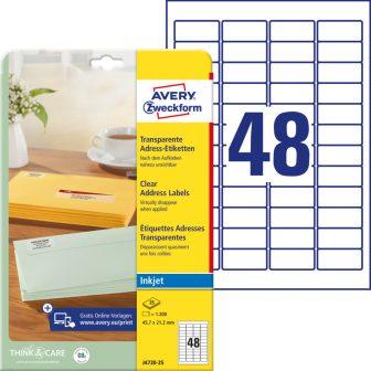 Avery Zweckform J4720-25 öntapadó etikett címke