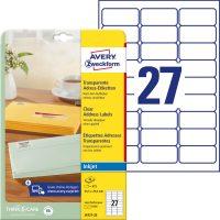 Avery Zweckform J4721-25 öntapadós etikett címke