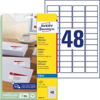Avery Zweckform J4791-25 öntapadós etikett címke