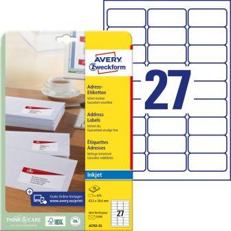 Avery Zweckform J4792-25 öntapadós etikett címke