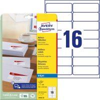 Avery Zweckform J8162-25 öntapadós etikett címke