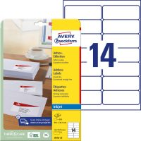 Avery Zweckform J8163-25 öntapadós etikett címke