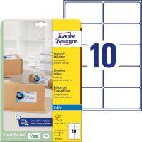 Avery Zweckform J8173-25 öntapadós etikett címke