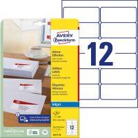 Avery Zweckform J8177-25 öntapadós etikett címke