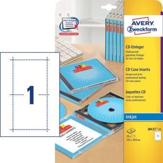 Avery Zweckform J8431-25 mikroperforált CD tok betét
