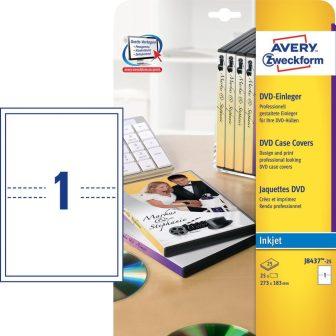 Avery Zweckform J8437-25 mikroperforált DVD tok betét