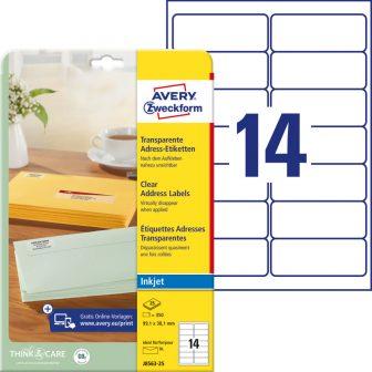 Avery Zweckform J8563-25 öntapadós etikett címke