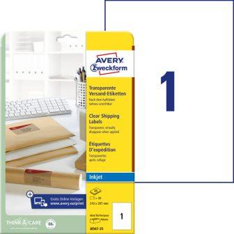 Avery Zweckform J8567-25 öntapadó etikett címke