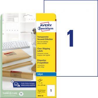 Avery Zweckform J8567-25 öntapadós etikett címke