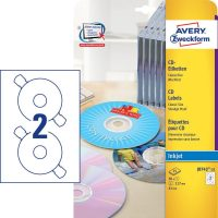 Avery Zweckform J8743-25 öntapadó CD címke