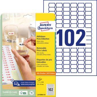 Avery Zweckform L3410REV-25 öntapadó árazó címke