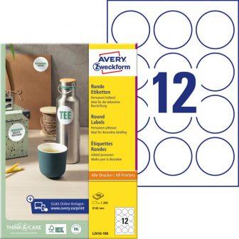 Avery Zweckform L3416-100 nyomtatható öntapadós etikett címke