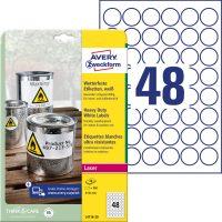Avery Zweckform L4716-20 öntapadós etikett címke