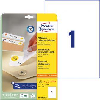 Avery Zweckform L4735REV-25 öntapadós etikett címke