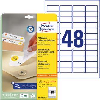 Avery Zweckform L4736REV-25 öntapadós etikett címke