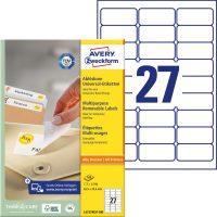 Avery Zweckform L4737REV-100 öntapadós etikett címke
