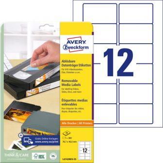 Avery Zweckform L4742REV-25 öntapadó etikett címke