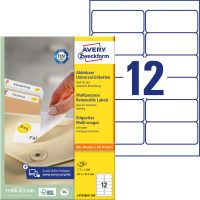 Avery Zweckform L4743REV-100 öntapadós etikett címke