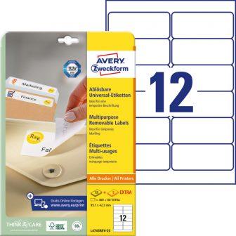 Avery Zweckform L4743REV-25 öntapadós etikett címke