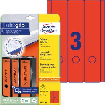 Avery Zweckform L4752-20 nyomtatható öntapadós iratrendező címke