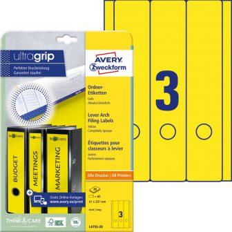 Avery Zweckform L4755-20 nyomtatható öntapadós iratrendező címke