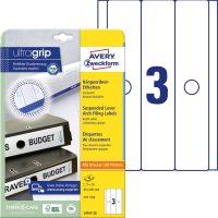 Avery Zweckform L4757-25 függőmappa címke