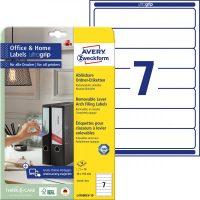 Avery Zweckform L4760REV-10 nyomtatható öntapadós iratrendező címke