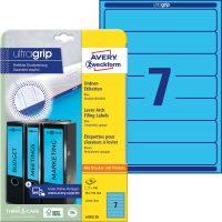Avery Zweckform L4763-20 nyomtatható öntapadós iratrendező címke