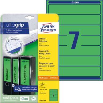 Avery Zweckform L4764-20 nyomtatható öntapadós iratrendező címke