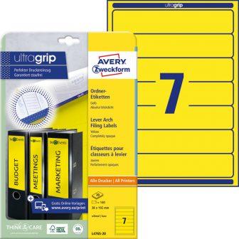 Avery Zweckform L4765-20 nyomtatható öntapadós iratrendező címke