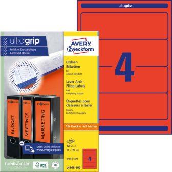 Avery Zweckform L4766-100 nyomtatható öntapadós iratrendező címke