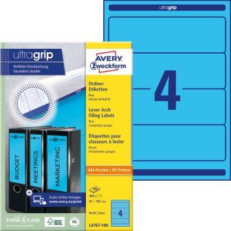 Avery Zweckform L4767-100 nyomtatható öntapadós iratrendező címke