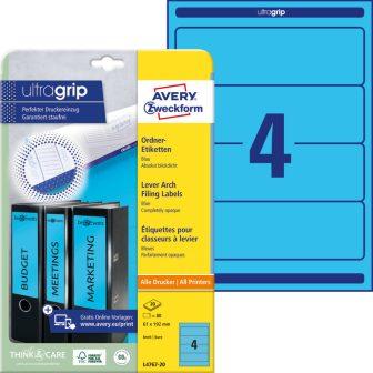 Avery Zweckform L4767-20 nyomtatható öntapadós iratrendező címke