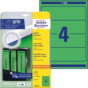 Avery Zweckform L4768-20 nyomtatható öntapadós iratrendező címke