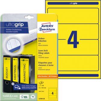 Avery Zweckform L4769-20 nyomtatható öntapadós iratrendező címke