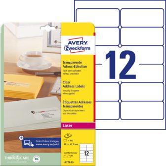 Avery Zweckform L4772-25 öntapadós etikett címke