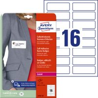 Avery Zweckform L4783-20 textilre ragasztható névcímke
