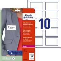 Avery Zweckform L4785-20 textilre ragasztható névcímke