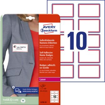 Avery Zweckform L4786-20 textilre ragasztható névcímke