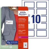 Avery Zweckform L4787-20 textilre ragasztható névcímke