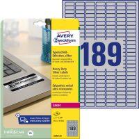 Avery Zweckform L6008-20 öntapadós ezüst ipari címke