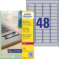 Avery Zweckform L6009-100 öntapadós ezüst ipari címke