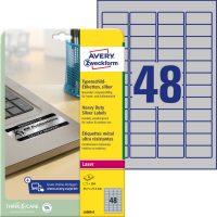 Avery Zweckform L6009-8 öntapadós ezüst ipari címke