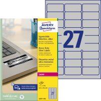 Avery Zweckform L6011-100 öntapadós ezüst ipari címke