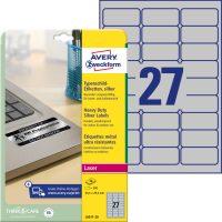 Avery Zweckform L6011-20 öntapadós ezüst ipari címke