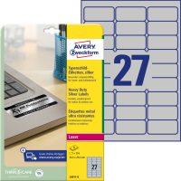 Avery Zweckform L6011-8 öntapadós ezüst ipari címke
