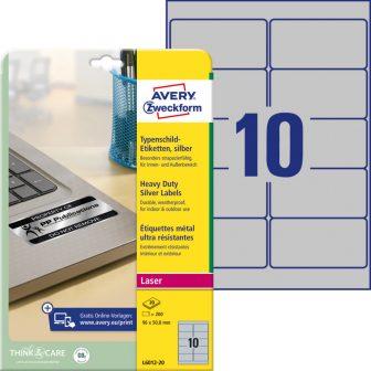 Avery Zweckform L6012-20 öntapadós ezüst ipari címke