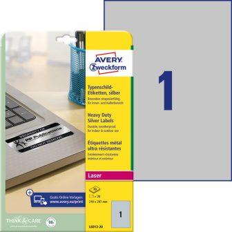 Avery Zweckform L6013-20 öntapadós ezüst ipari címke